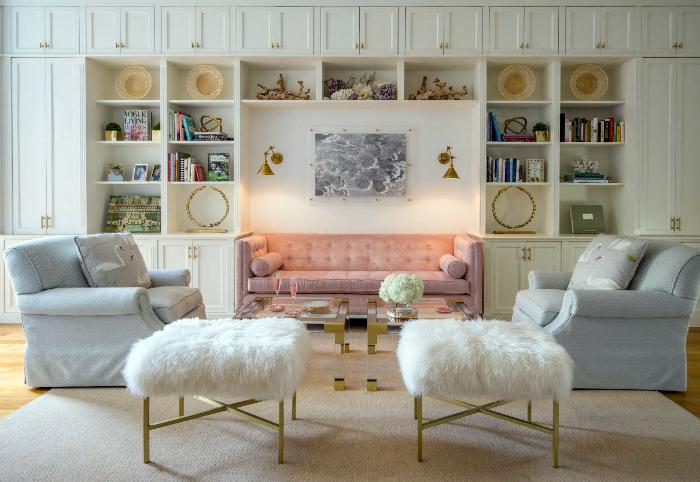Очаровательный дизайн гостиной.