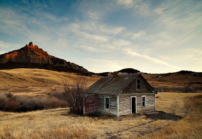 Деревянный дом в Монтане.
