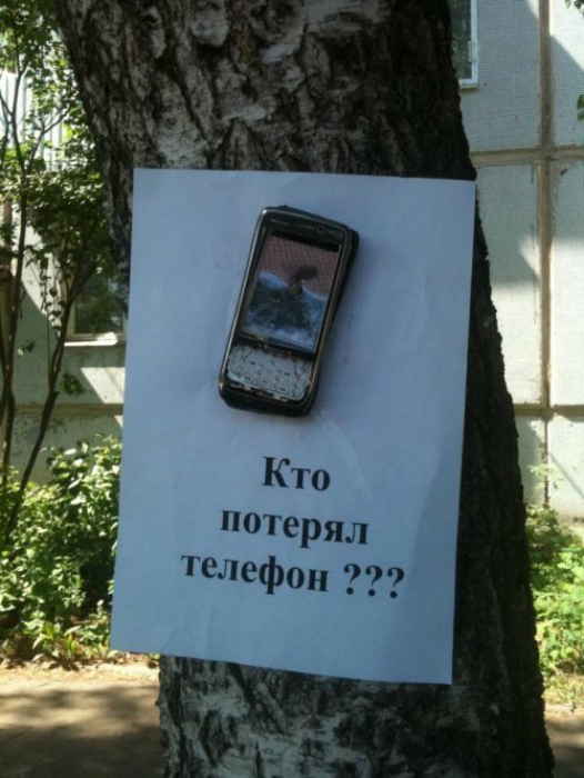 Хозяин, приходи, забирай свой телефон!