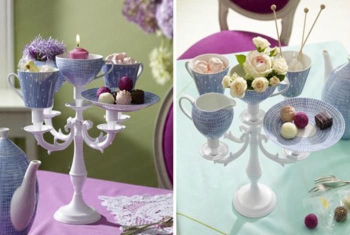Красивейшие вазочки из старых чашек и блюдец.