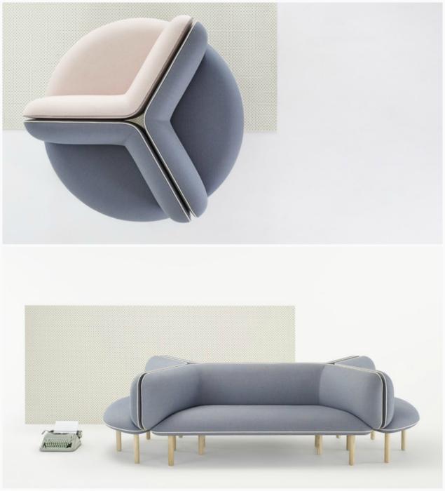 Элегантный модульный диван.