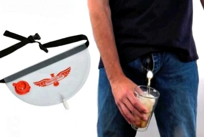 Поясная сумка для выпивки.
