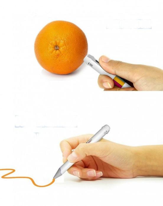 Ручка, которая сканирует цвет и воспроизводит его на бумаги.