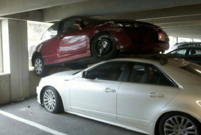 Многоуровневая парковка.
