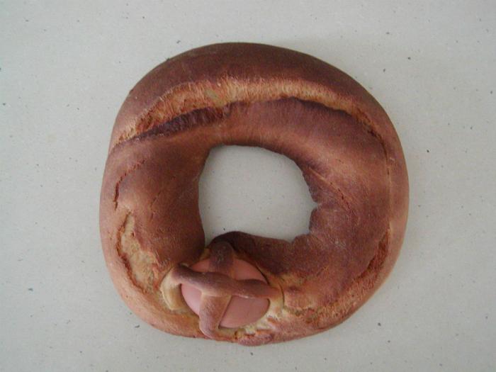 Сладкий пасхальный хлеб.