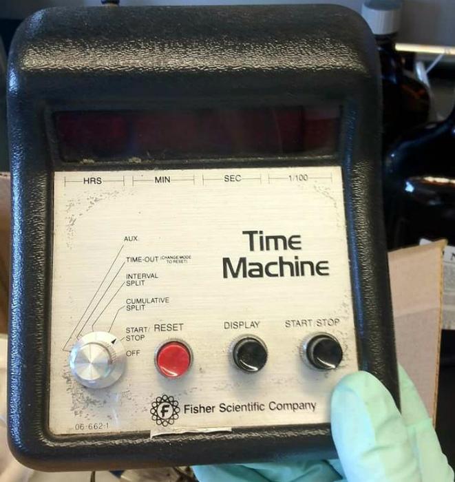 Только представьте себе - машина времени.