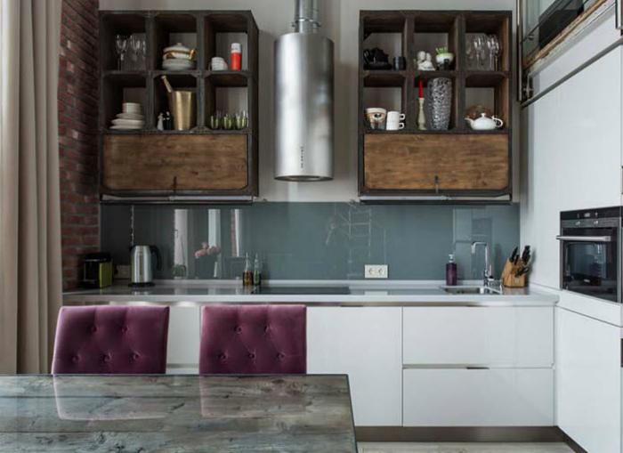 Кухня в индустриальном стиле. | Фото: Яндекс.