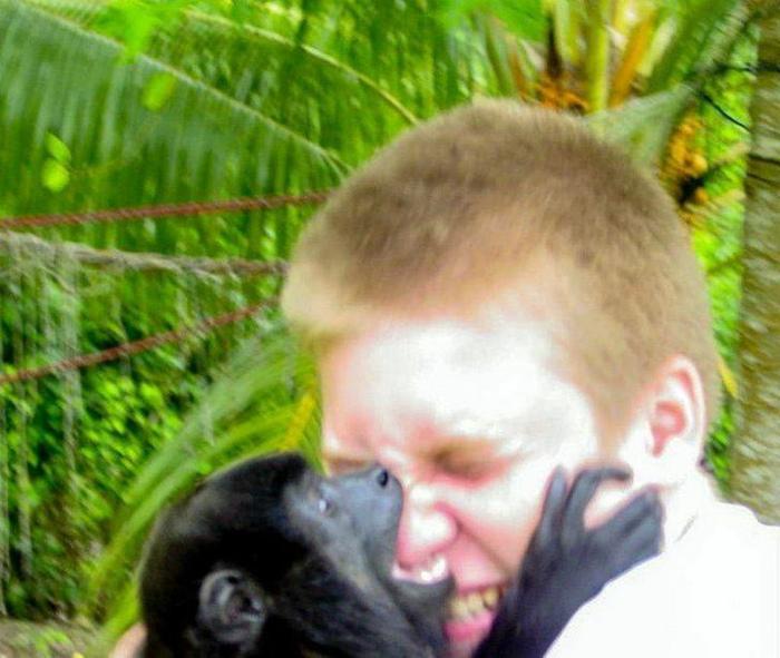 Какая милая обезьянка.