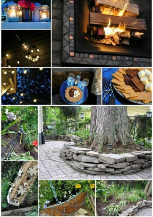 Очаровательные мелочи для декора летнего патио.
