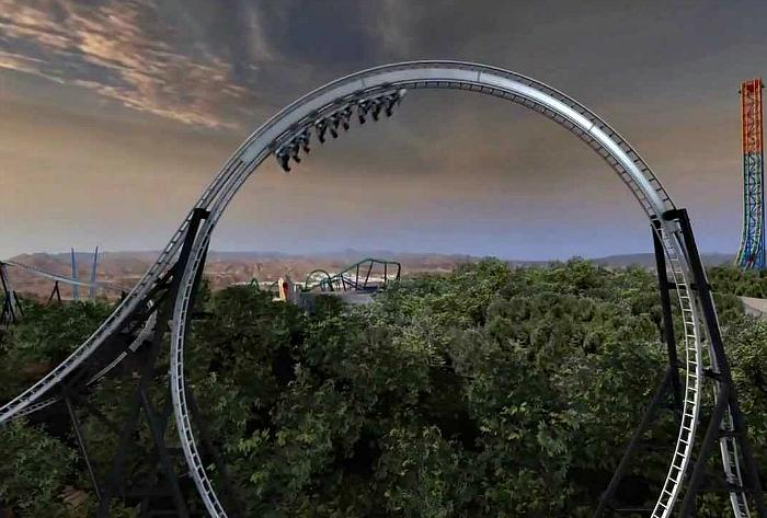Самая высокая вертикальная петля в мире.