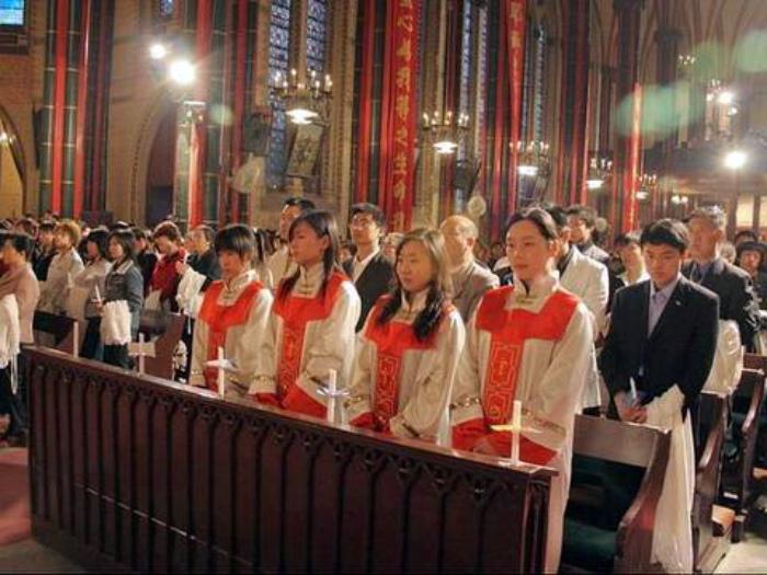 Воскресная церковная служба в Китае. | Фото: Православие.By.