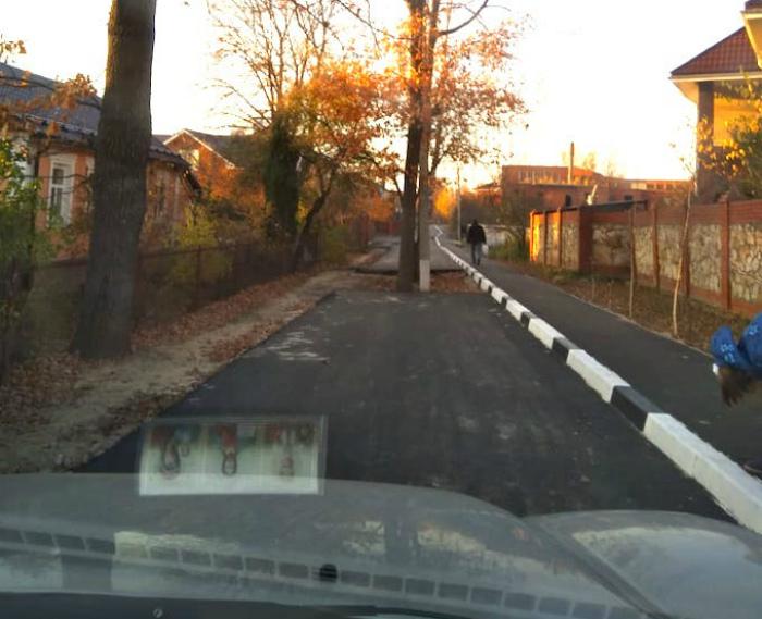 Проезжая часть с препятствиями. | Фото: Oka.FM.