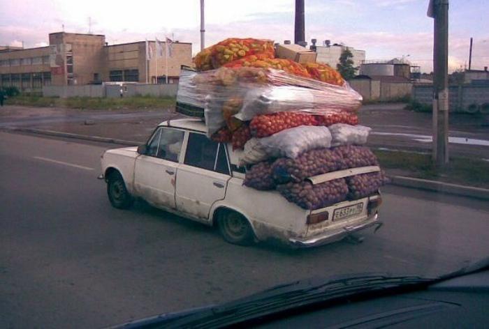 Урожай едет домой. | Фото: HappyNews.