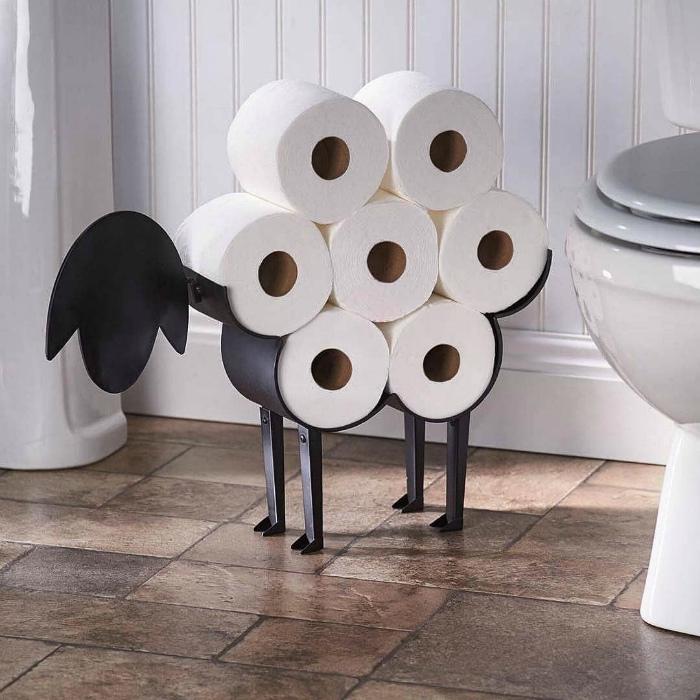 Подставка для туалетной бумаги. | Фото: Pinterest.