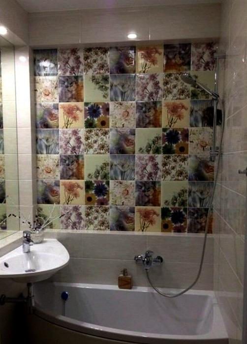 Многослойный интерьер ванны. | Фото: Dritare.net.