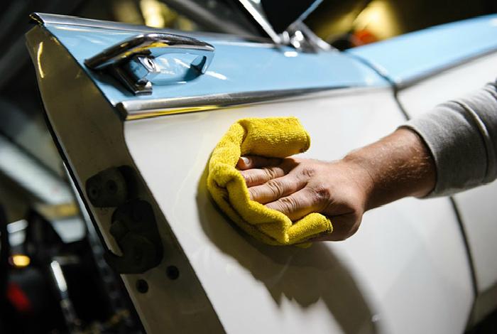 Частицы краски на кузове авто. | Фото: Drive2.