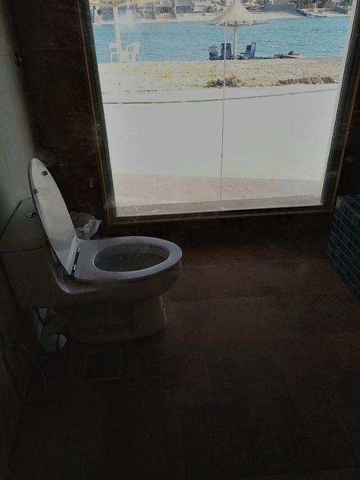 Туалет с роскошным видом и большим панорамным окном. | Фото: Поросёнка.нет.