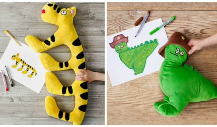 В рамках благотворительной акции, компания IKEA запустила серию мягких игрушек, сделанных по мотивам детских рисунков.