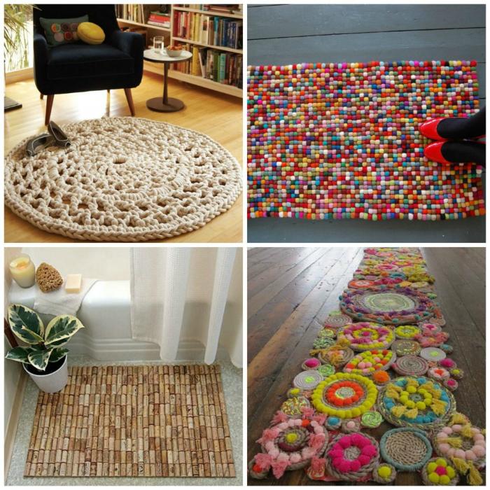 Яркий или нейтральный коврик, сделанный своими руками и с любовью добавит дому тепла и уюта.