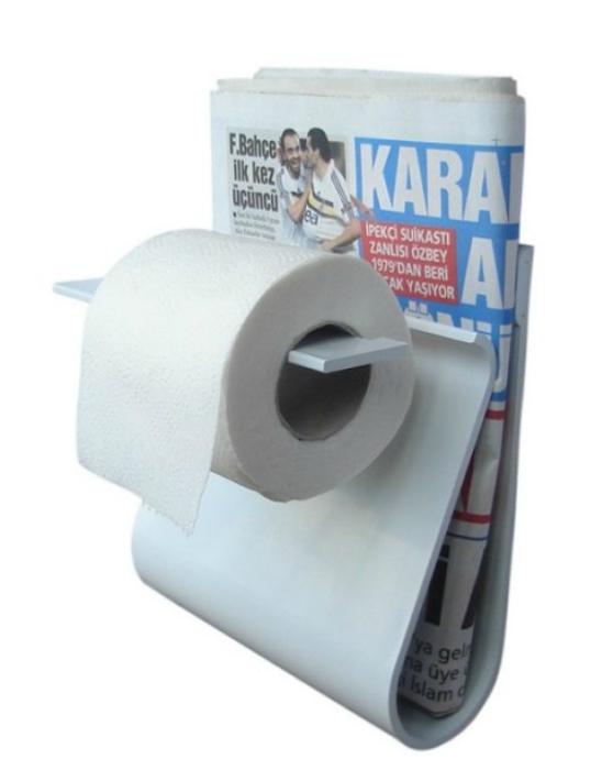Держатель для туалетной бумаги и газет.