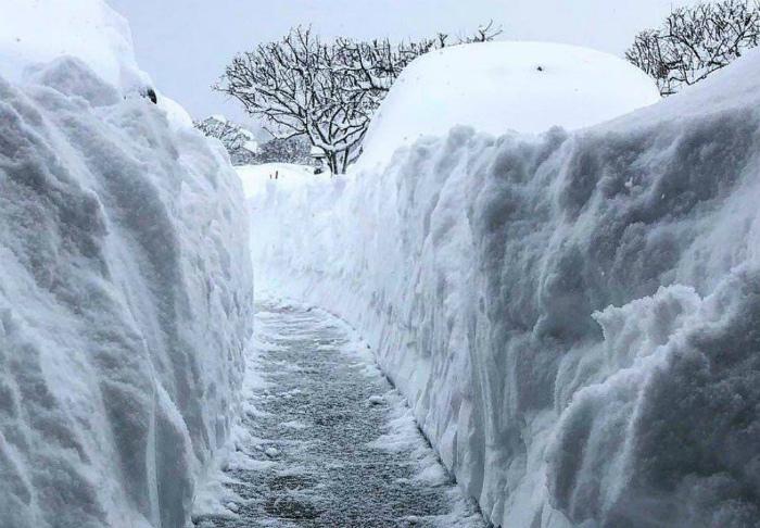 Снежные стены.