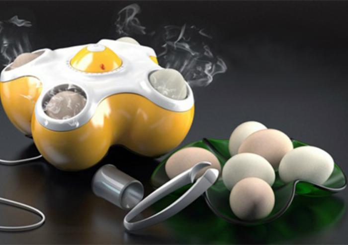 Специальная паровая машина, рассчитанная на 4 яйца, которая быстро и легко отварит их.