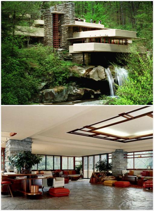 Дом на водопаде в Пенсильвании. | Фото: share.america.gov, Powerakademy.com.