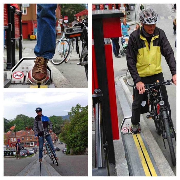 Эскалаторы для велосипедистов. | Фото: Shareably.