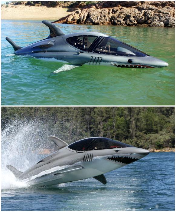 Подводная лодка в виде акулы.