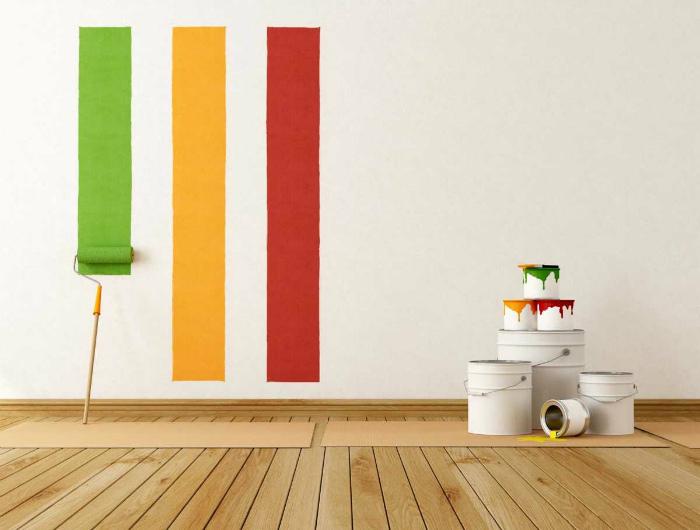 Спонтанный выбор краски или другого отделочного материала.