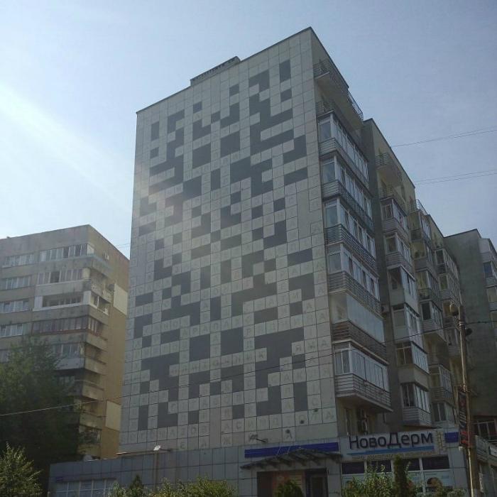 Оригинальный дизайн фасада.