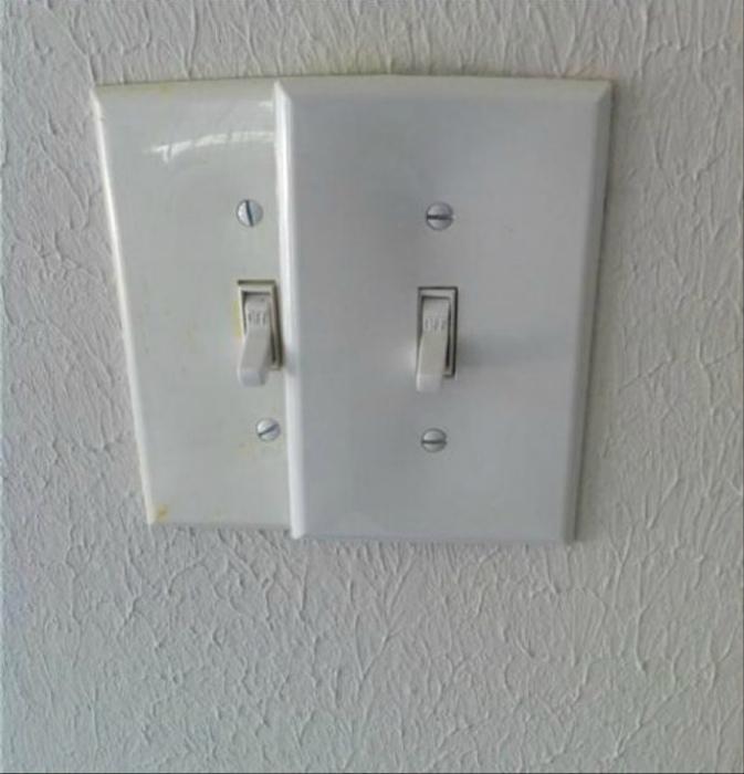 Расположение выключателей.