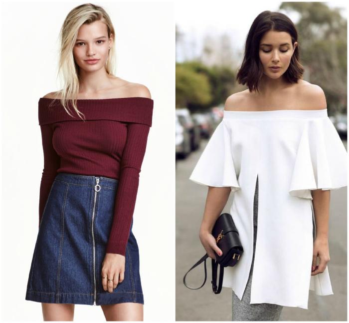 Платья и туники с открытыми плечами. | Фото: Pinterest.