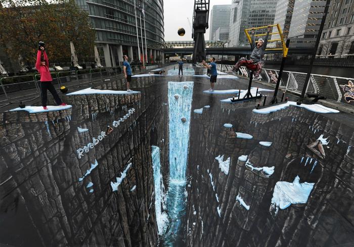 Самый большой в мире стрит арт. Художник Джо Хилл.