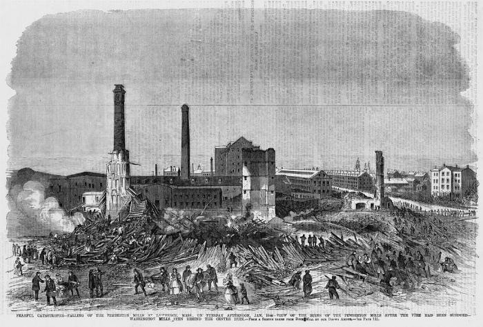 Разрушение фабрики «Пембертон Милл».