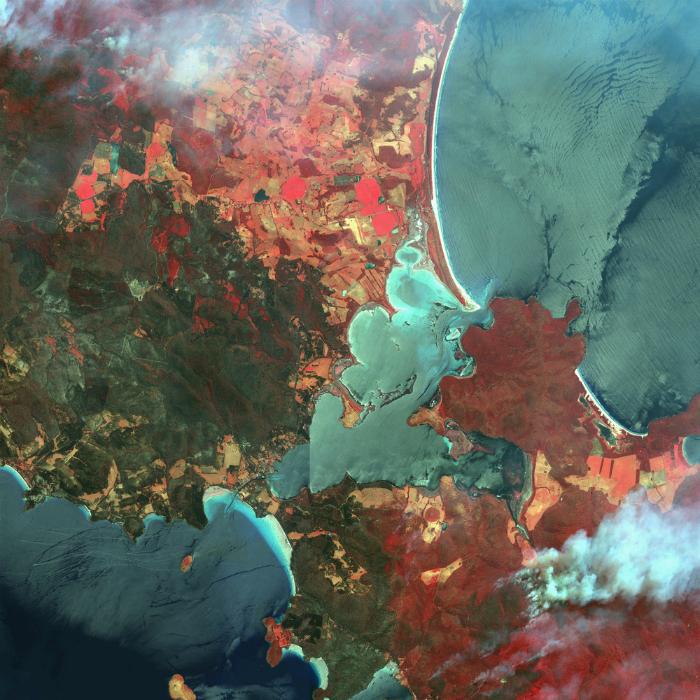Дым от лестного пожара в Австралии.