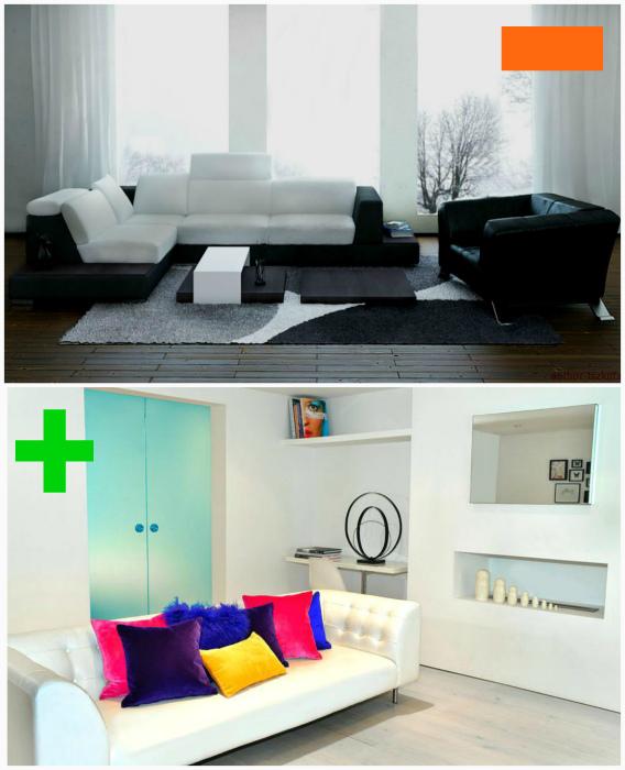 Скучный монохромный интерьер без ярких деталей. | Фото: Уют в Доме, Interior Design Ideas For Apartments.