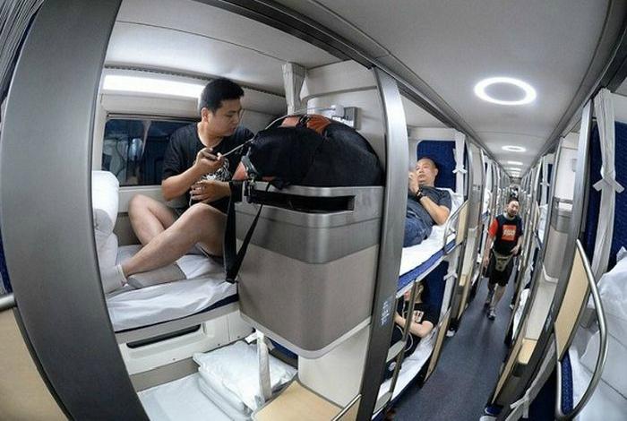Постельное белье в китайских поездах.