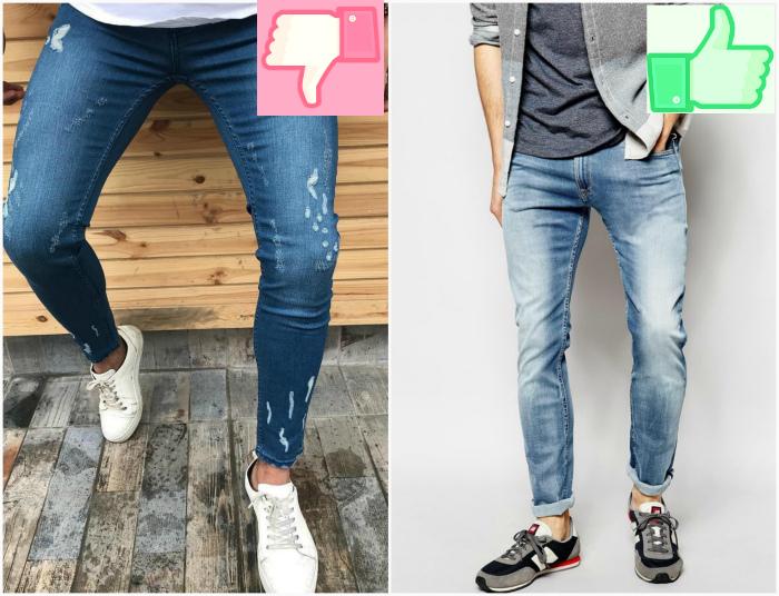Мужские джинсы скинни.