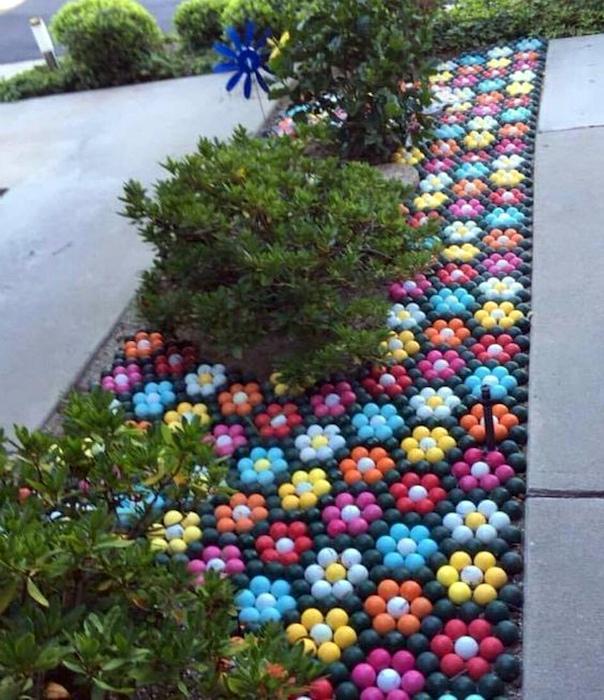 Мозаика из пластиковых шариков. | Фото: Pinterest.