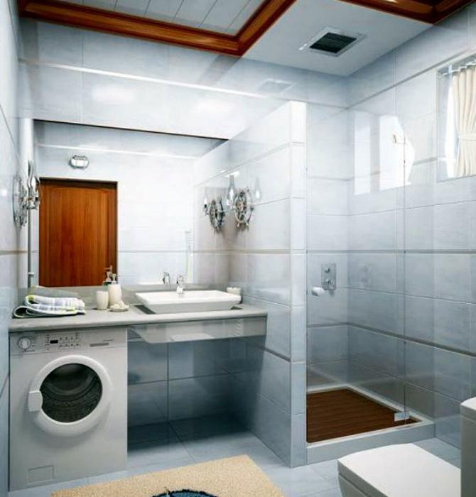Душевая кабинка, построенная своими руками. | Фото: Ванная комната.