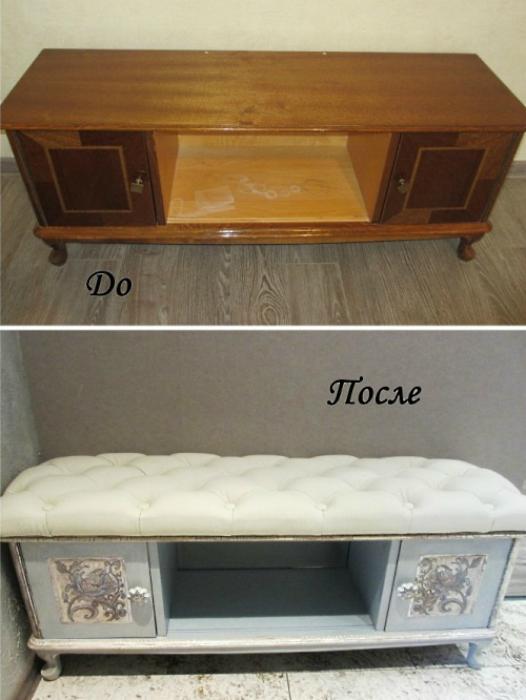 Как сделать из старого серванта современный шкаф