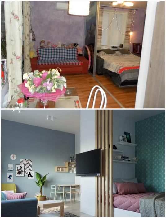 Переделка однокомнатной кварты в двухкомнатную. | Фото: Legko.com, Fishki.net.