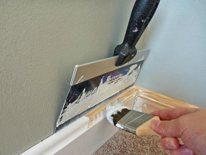 Защита стен шпателем.