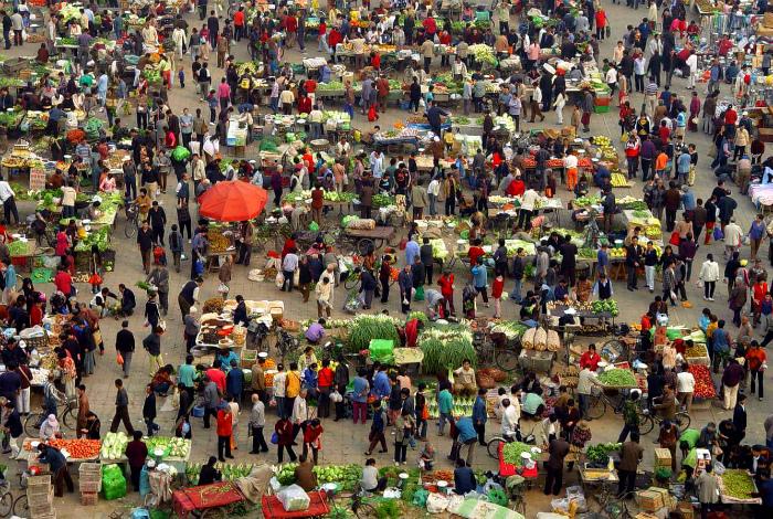 Утренняя ярмарка в Пекине. | Фото: bublink.ru.