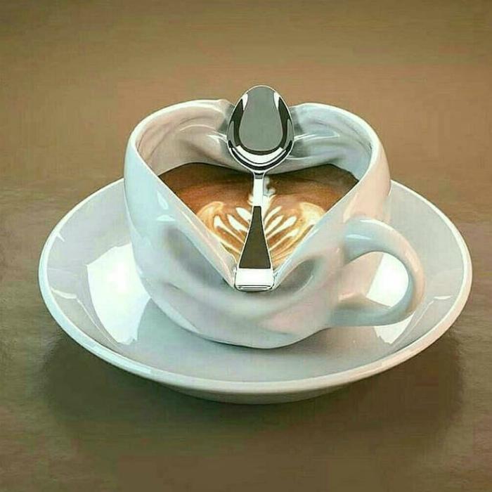 «Скомканная» чашка. | Фото: Pinterest.
