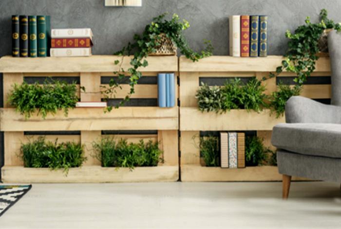 Стеллажи для выращивания зелени. | Фото: IntStyle.