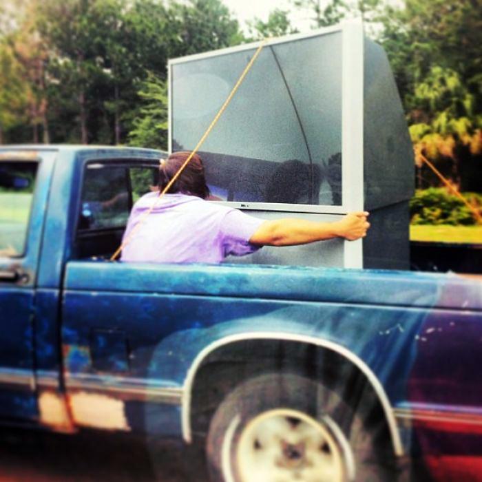 Передвижение в связке с телевизором.