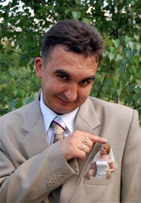 Невеста в кармашке.