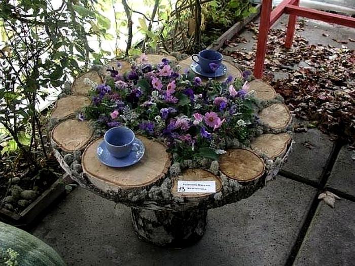 Круглый стол из спилов. | Фото: uDuba.